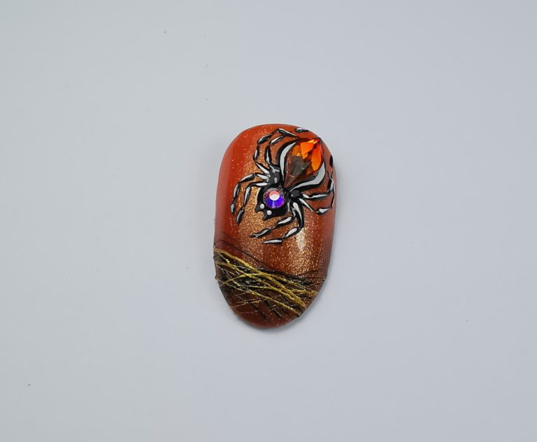 step-by-step nagels halloween
